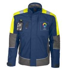 Projob polstret jakke med holder til ID-kort