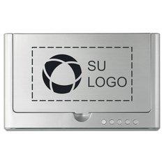 Reloj de escritorio con higienizador por rayos UV y base de carga inalámbrica