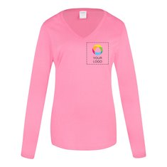 Port & Company® Ladies Long Sleeve Fan Favorite V-Neck Tee