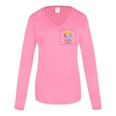 T-shirt femme à col en V et à manches longues Fan Favorite Port& CompanyMD