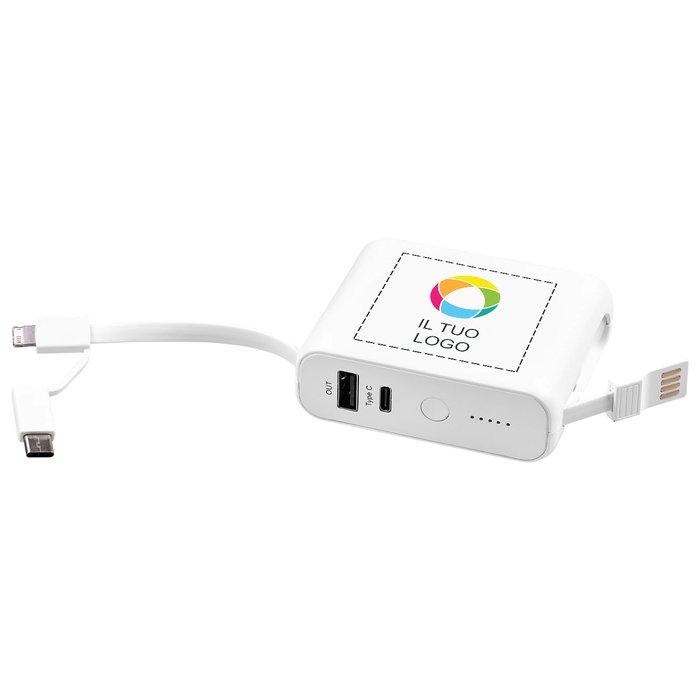 Caricabatterie portatile senza fili da 5000 mAh Galaxy Avenue™ con stampa a colori