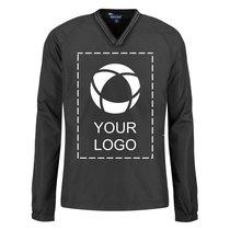 Sport-Tek®Youth Tipped V-Neck Raglan Wind Shirt Screenprint