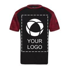 Camiseta juvenil Sport-Tek® CamoHex con bloques de color