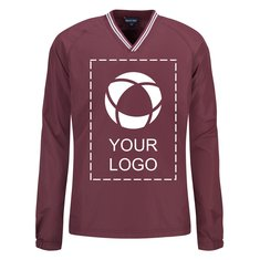 Sport-Tek®Youth Tipped V-Neck Raglan Wind Shirt