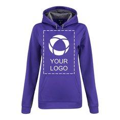 Sport-Tek®Ladies Sport-Wick®Fleece Colorblock Hooded Pullover