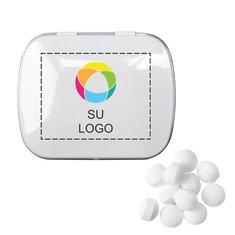 Lata combada de mentitas en forma de pelotas de golf, paquete de 125