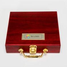Set de póquer en caja de madera