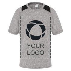 Camiseta juvenil Contender™ jaspeada con bloques de color para impresión por serigrafía de Sport-Tek®