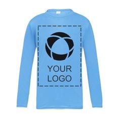 Camiseta juvenil Competitor™ de manga larga con tecnología PosiCharge® para impresión por serigrafía de Sport-Tek®