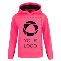 Sport-Tek®Youth Sport-Wick®Fleece Colorblock Hooded Pullover Screenprint