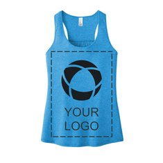 District® Women's V.I.T.™ Gathered Back Tank with Full-Front Screenprint