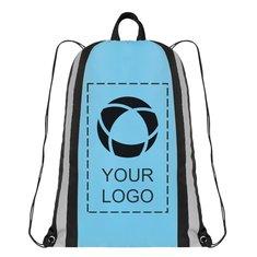 Small Reflective Drawstring Backpack