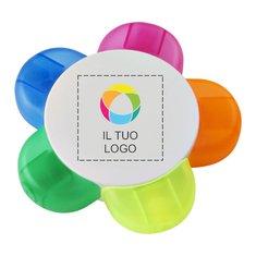 Evidenziatore Flower Bullet™ con stampa a colori