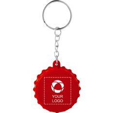 Bullet Beer Cap Keychain with Bottle Opener