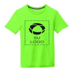 Camiseta juvenil Sport-Tek® PosiCharge Competitor Cotton Touch para impresión por serigrafía