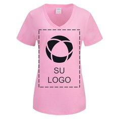 Camiseta de algodón Core con cuello en V para damas para impresión por serigrafía de Port & Company®