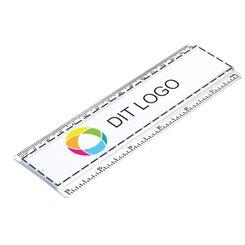Lineal på 15 cm med multifarvet indstik