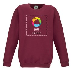 Fruit of the Loom™ Kids Premium Sweatshirt mit angesetzten Ärmeln