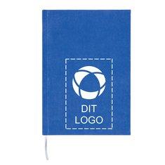 2-i-1 A5-notesbog i luksusmaterialer med linjeret og blankt papir