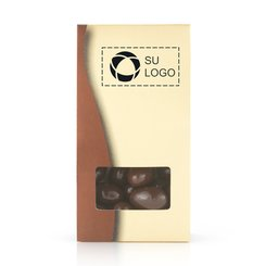 Caja dorada de bombones de chocolate - Paquete de 50 cajas