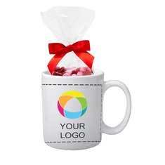 Full Color Mug with Chocolate Buttons Mug Drop, 11 Oz. - Case of 36