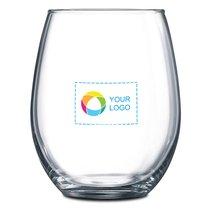 Stemless 2-Piece White Wine Glass Set