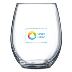 Stemless 2-Piece White Wine Glass Set