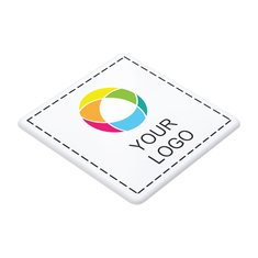 Sottobicchiere quadrato in plastica con stampa a colori