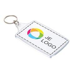 Grote sleutelhanger met inzet in full-colour
