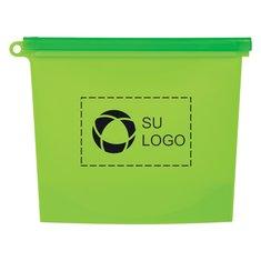 Bolsa de alimentos reutilizable con cierre deslizador de plástico