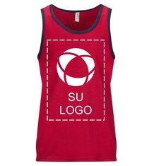Camiseta ligera sin mangas Anvil® Fashion para serigrafía
