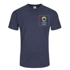 T-shirt Valueweight de FruitoftheLoom®, impression à l'encre sur la poitrine gauche