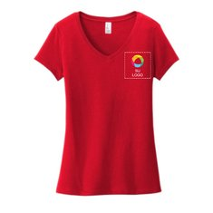 District® Women's Very Important Tee® V-Neck with Left Chest Print