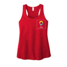 District® Women's V.I.T.™ Gathered Back Tank with Left Chest Print