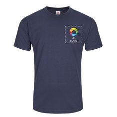 Fruit of the Loom® Valueweight T-shirt Bedrukt op de Linkerborst