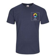 Fruit of the Loom® Valueweight T-shirt med fuldfarvetryk på venstre side af brystet og bagside