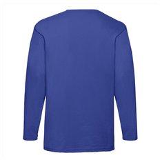 Fruit of the Loom® Valueweight långärmad T-shirt, tryck vänster bröst fram och hela ryggen
