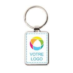 Porte-clés couleur avec anneau métallique de Promotique™