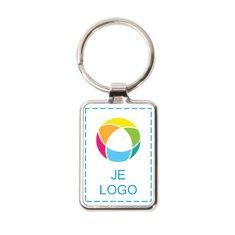 Promotique™ sleutelhanger met metalen ring full-colour