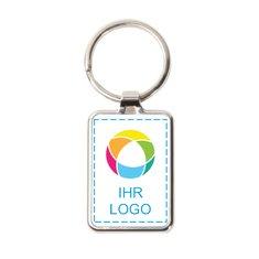 Schlüsselanhänger mit Metallring von Promotique™, Vollfarbdruck