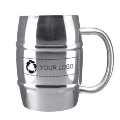 Growl Stainless Steel 14-Ounce Barrel Mug