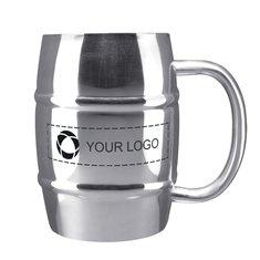 Growl Stainless Steel 14-Ounce Barrel Mug