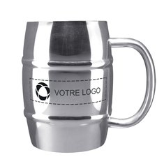 Tasse tonneau 475 ml en acier inoxydable Growl