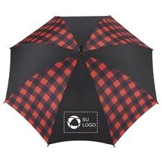 """Paraguas de cuadros búfalo de moda con mecanismo de apertura automática de 46"""" de StrombergBrand®"""