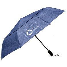 """Paraguas automático ventilado jaspeado Cutter & Buck® de 46"""""""