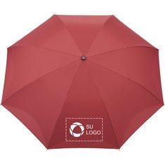 "Paraguas de apertura automática e invertida en PET reciclado a cuadros de 48"" de StrombergBrand®"
