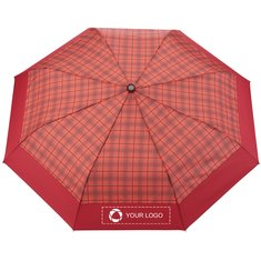 "StrombergBrand®42"" Recycled PET Auto Open Plaid Folding Umbrella"