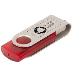 Clé USB rotative translucide de 4 GB