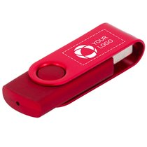 Roterende Metallic USB 4GB.