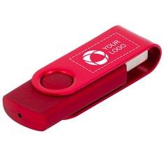 Roterbar USB-nøgle på 4 GB i metal